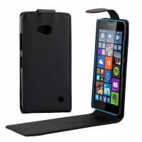 Flip Cover voor Nokia / Microsoft Lumia 640 - Kunstleer, zwart Tasje Zakje Hoesje