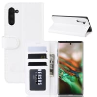 Case for Samsung Galaxy Note 10 (SM-N970) - PU Leather, White Case