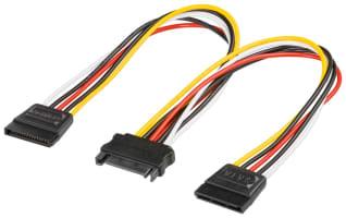 PC Y Stromkabel/Stromadapter - 2x SATA-Standard Stecker > SATA Standard Buchse