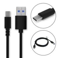 Câble Data pour RugGear RG850 / RG760 / RG725 / RG720 - 1m, 3A Câble USB, noir