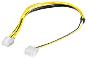 PC Stromkabel/Stromadapter - 1x Molex > 8 Pin EPS-Stecker