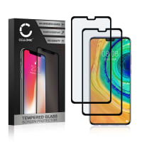 2x Screen protector glass Huawei Mate 30 (3D Case-friendly, 9H, 0,33mm, Full Glue) Tempered Glass