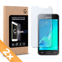 2x Displaybeschermglas voor Samsung Galaxy J1 (2016 / SM-J120) - Tempered Glass (HD kwaliteit / 2.5D / 0,33mm / 9H)