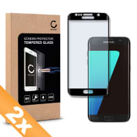 2x Displaybeschermglas voor Samsung Galaxy S7 Edge (SM-G935 / SM-G935F) - Tempered Glass (HD kwaliteit / 3D Full Cover / 0,33mm / 9H)
