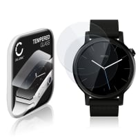 2x Näytönsuojat Lasi Motorola Moto 360 (2. Gen) - 42mm (2.5D, 9H, 0,33mm, Full Glue) Tempered Glass
