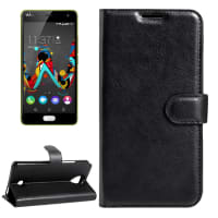 Smart Case per Wiko U Feel - Similpelle, nero Custodia Borsa Guscio