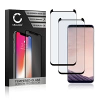 2x Skjermbeskytter glass Samsung Galaxy S8 Plus (SM-G955 / SM-G955F) (3D Case-friendly, 9H, 0,33mm, Full Glue) Herdet Glass