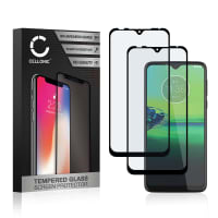 2x Panzerglas Motorola Moto G8 Play (3D Full Cover, 9H, 0,33mm, Full Glue) Displayschutz Tempered Glass