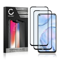 2x Skærmbeskytter glas Huawei P40 Lite (3D Case-friendly, 9H, 0,33mm, Full Glue) Screen Protector