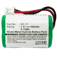 Battery for SportDOG FieldTrainer SD-400 SD-400S WetlandHunter SD-400 SD-800 (150mAh) Dogtra SDT00-11907, Kinetic MH120AAAL4GC, sportDOG 4SN-1/4AAA15H-H-JP1, 650-058, DC-17, DC-17_5, MH120AAAL4GC