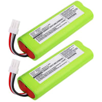 2x Battery 7.2V, 3000mAh, NiMH for Makita 4076 4076D 4076DWR 4076DWX - 810534-3 Spare Battery Replacement