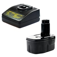 Battery 14.4V, 3Ah, NiMH + Charger for Dewalt DC728 / DC730 / DC731 / DC733 / DC735 / DC757 / DC830 / DC835 - DE9087, DE9091, DE9092, DE9038, DE9094, DE9502 replacement battery