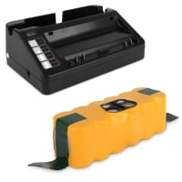 Battery 14.4V, 3300mAh, NiMH + Charger for iRobot Roomba 800, 870, 871, 880, 780, 770, 620, 650, 620, 565, 530, 500, 520, 550 - 11702, VAC-500NMH-33 replacement battery
