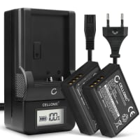 2x Batterie pour appareil photo Canon EOS 1100D 1200D 1300D 2000D 4000D EOS Rebel T6 T3 - LP-E10 1020mAh + Chargeur LC-E10 Batterie Remplacement