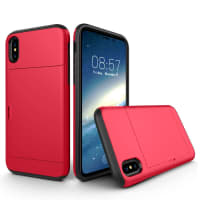 Tapa trasera para Apple iPhone X - TPU, rojo Funda