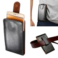 Flip Wallet for the belt / Smartphones (16.4cm x 8.5cm x 2.0cm / ~ 5,7 - 6,2