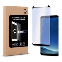 Cristal protector de la pantalla (CASE-FRIENDLY) para Samsung Galaxy S8 Plus (SM-G955 / SM-G955F) - Tempered Glass (Calidad HD / 3D Case-friendly / 0,33mm / 9H)