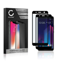 2x Screen protector glass HTC U11 Plus (3D Full Cover, 9H, 0,33mm, Full Glue) Tempered Glass
