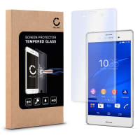 Cristal protector de la pantalla para Sony Xperia Z3 - Tempered Glass (Calidad HD / 2.5D / 0,33mm / 9H)