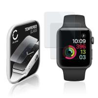2x Protection d'écran en verre Apple Watch 1 / 2 / 3 - 42mm (2.5D, 9H, 0,33mm, Full Glue) Verre trempé
