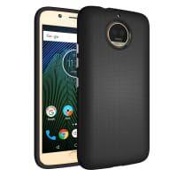 Back Cover for Moto G5s Plus - TPU, black Case