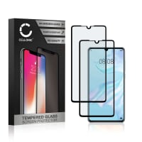 2x Screen protector glass Huawei P30 (3D Case-friendly, 9H, 0,33mm, Full Glue) Tempered Glass