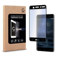 Screen protector glass for Nokia 6 (2017) - Tempered Glass (HD-Quality / 3D Full Cover / 0,33mm / 9H)