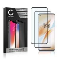 2x Näytönsuojat Lasi OnePlus 8 Pro (3D Full Cover, 9H, 0,33mm, Full Glue) Tempered Glass