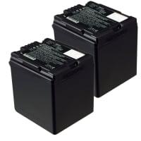 2x Batterie pour appareil photo Panasonic HDC-SD200 SD707 SD700 SD600 HDC-HS9 HDC-SDT750 HDC-TM700 TM400 NV-GS500 GS400 SDR-H80 VDR-D51 - VW-VBG070 VW-VBG130 VW-VBG260 2200mAh Batterie Remplacement
