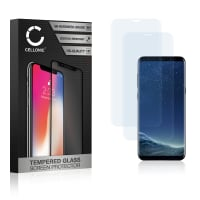 2x Displaybeschermglas Samsung Galaxy S8 (SM-G950 / SM-G950F) (3D Full Cover, 9H, 0,33mm, Edge Glue) Tempered Glass