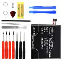 Batterie pour Alcatel One Touch Idol 3 (4.7) (6039 / 6039K) + Set de micro vissage - TLp020K2, C2000023C2 (2000mAh) Batterie de remplacement