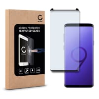 Cristal protector de la pantalla (CASE-FRIENDLY) para Samsung Galaxy S9 Plus (SM-G965) - Tempered Glass (Calidad HD / 3D Case-friendly / 0,33mm / 9H)