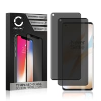 2x Privacy Skærmbeskytter glas OnePlus 8 Pro (3D Case-friendly, 9H, 0,33mm, Full Glue) Screen Protector