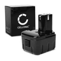 CELLONIC® EB1220BL, EB1214S, BCC1215,EB1214L, EB1226HL, EB1230HL batteri för Hitachi DS 12DM, FDS 12DVA, DS 12DVF2,DS 12DVF3, CR 10DL trådlösa verktyg med 12V, 3Ah och NiMH