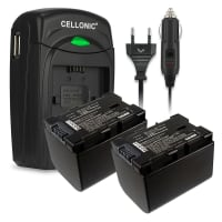 2x Akku für JVC GZ-E15, GZ-EX315, -EX215, GZ-HM550, -HM30, -HM310, -HM330, GZ-HD620, GZ-MG750, GZ-MS110, -MS210 - BN-VG107,-VG108,-VG114,-VG121 2700mAh + Ladegerät Ersatzakku