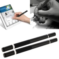 2x 2in1 Design Touchpen for Smartphone, eReader Tablet & Co. inkl. Ballpoint pen / svart