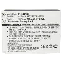 Battery for Foxlink 423443 - HGY9C0830925 700mAh Replacement battery