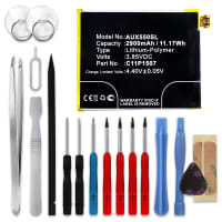 Akku für ASUS ZenFone Zoom (ZX550) - 0B200-01670100, C11P1507 (2900mAh) + Werkzeug-Set, Ersatzakku