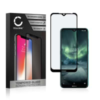 Panzerglas Nokia 7.2 (3D Case-friendly, 9H, 0,33mm, Full Glue) Displayschutz Tempered Glass