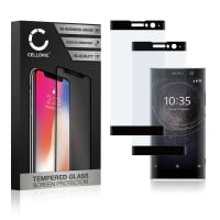 2x Displaybeschermglas Sony Xperia XA2 (3D Full Cover, 9H, 0,33mm, Edge Glue) Tempered Glass