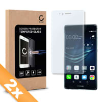 2x Displaybeschermglas voor Huawei P9 - Tempered Glass (HD kwaliteit / 3D Full Cover / 0,33mm / 9H)