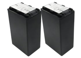 2x Battery for Sony DCR-SR32 -SR35 -SR37, DCR-SX30, HDR-SR11 HDR-SR12, HDR-CX105, HDR-HC9, DCR-HC23 - NP-FH40,-FH50,-FH60,-FH70 (4400mAh) Replacement battery