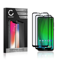 2x Skjermbeskytter glass Motorola Moto G7 (3D Case-friendly, 9H, 0,33mm, Full Glue) Herdet Glass