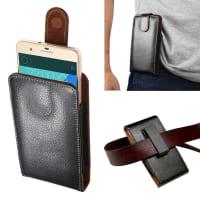 Flip Wallet for the belt / Smartphones (14.8cm x 8.5cm x 2.0cm / ~ 5,2 - 5,3