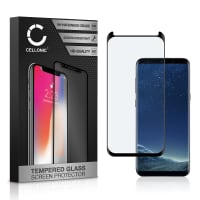 Screen protector glass Samsung Galaxy S8 (SM-G950 / SM-G950F) (3D Case-friendly, 9H, 0,33mm, Full Glue) Tempered Glass