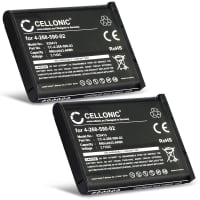 2x Battery for Panasonic KX-TCA285 KX-TCA385 KX-UDT121 KX-UDT131 Sony Bluetooth Laser Mouse VGP-BMS77 - 4-268-590-02,SP60,SP60BPRA9C,N4FUYYYY0046,N4FUYYYY0047 (660mAh) Replacement battery