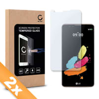 2x Displaybeschermglas LG Stylus 2 (2.5D, 9H, 0,33mm, Edge Glue) Tempered Glass
