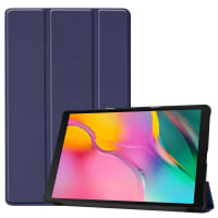 Case for Samsung Galaxy Tab A 10.1 2019 (SM-T510 / SM-T515) - Artificial leather, Dark Blue Case