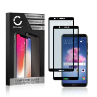2x Screen protector glass Huawei P Smart (3D Full Cover, 9H, 0,33mm, Full Glue) Tempered Glass