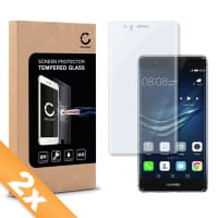 2x Displaybeschermglas voor Huawei P9 Plus - Tempered Glass (HD kwaliteit / 3D Full Cover / 0,33mm / 9H)